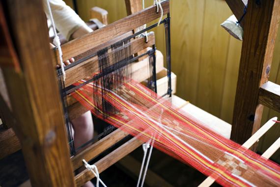 八重山のミンサー織り
