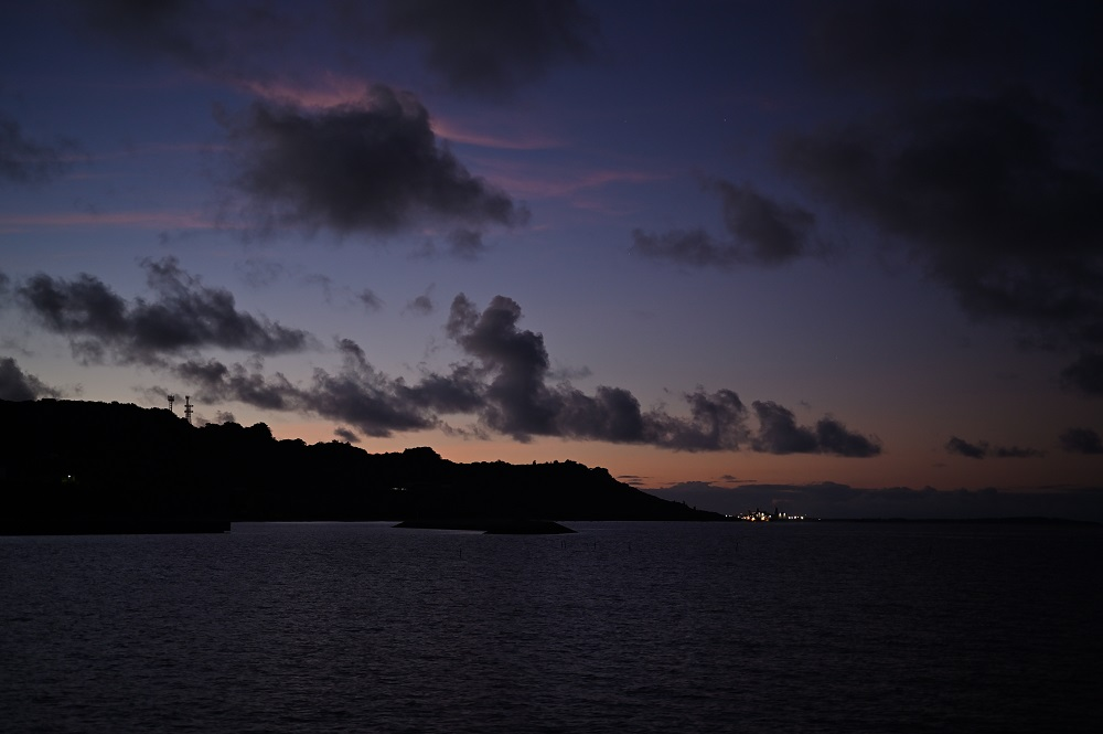 泡瀬の朝の風景