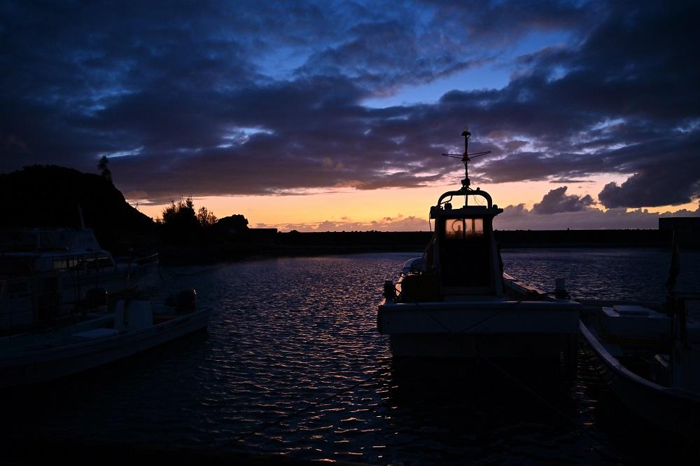 浜比嘉のヨット置き場