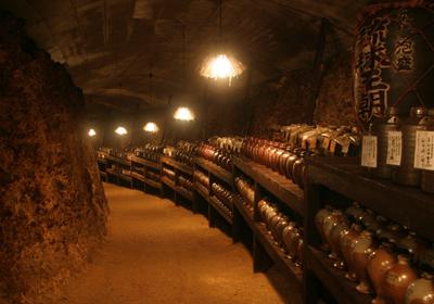 多良川酒造地下蔵内部