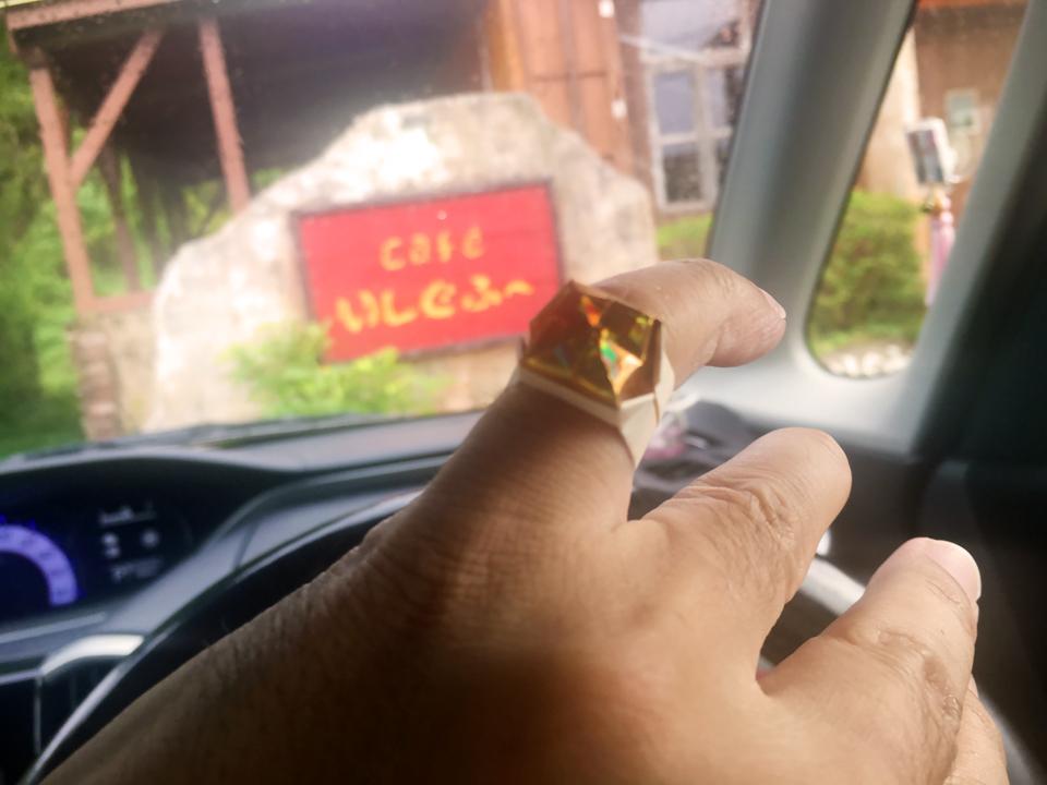 いただいた指輪