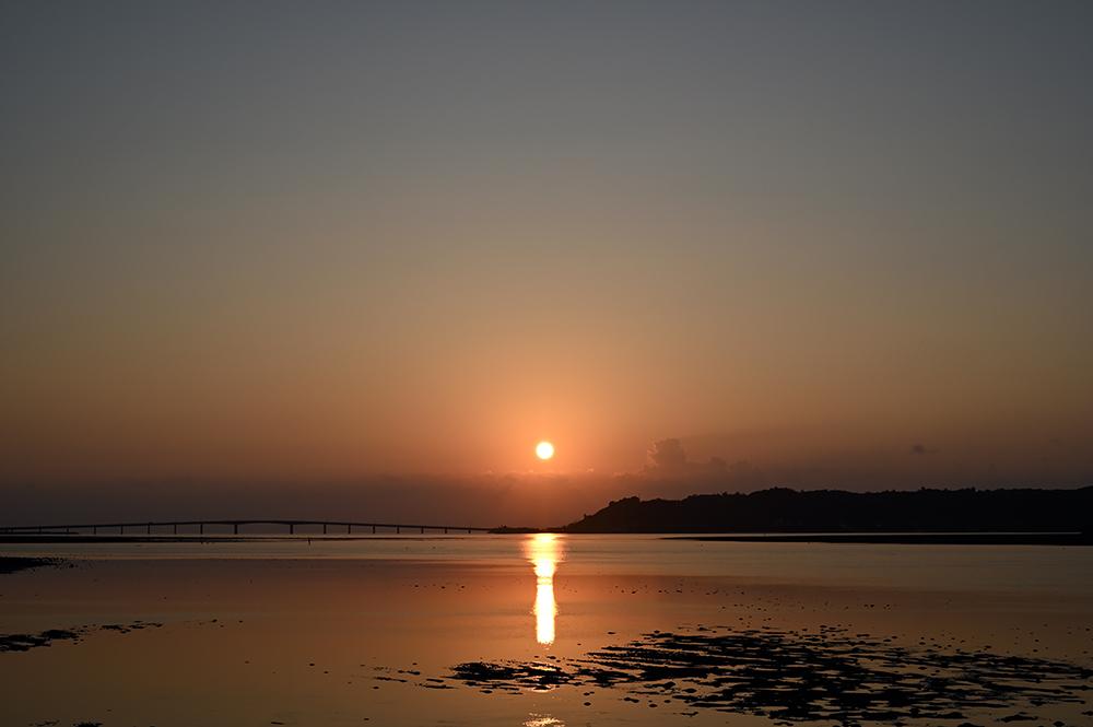 【画像】地平線から昇る朝日