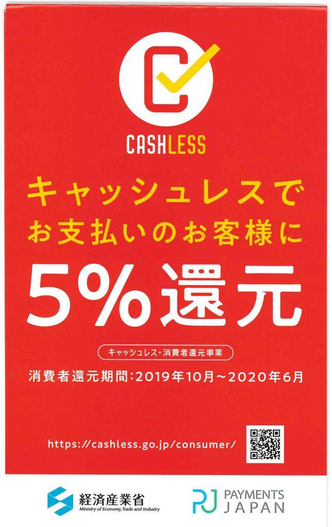 5%還元のポスター