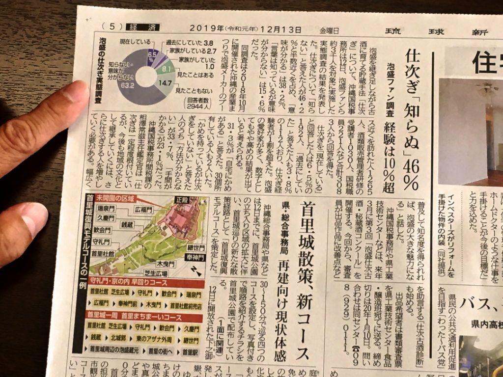 仕次ぎの新聞
