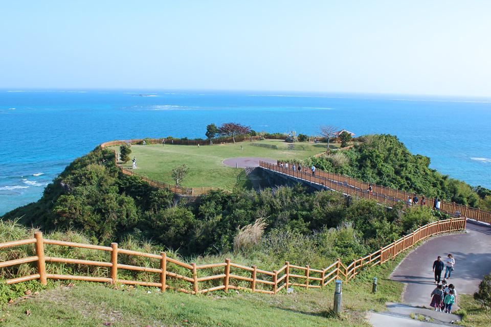 知念岬公園から見える景色