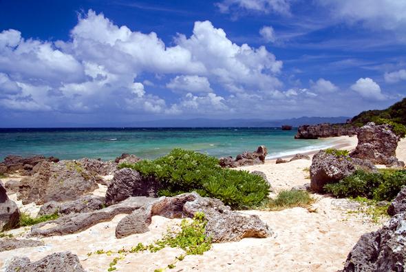 古宇利島北端のビーチ