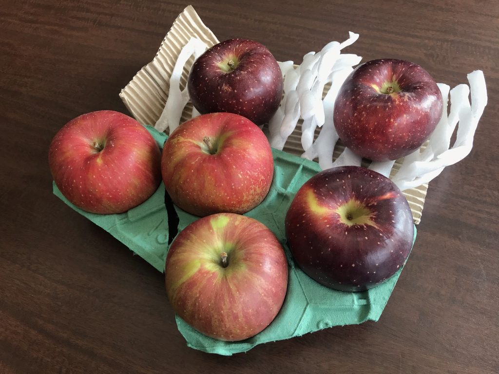 贈り物のリンゴ