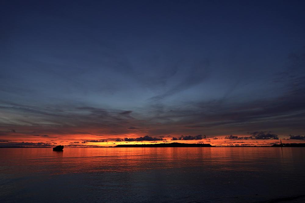 【画像】沖縄の朝焼け