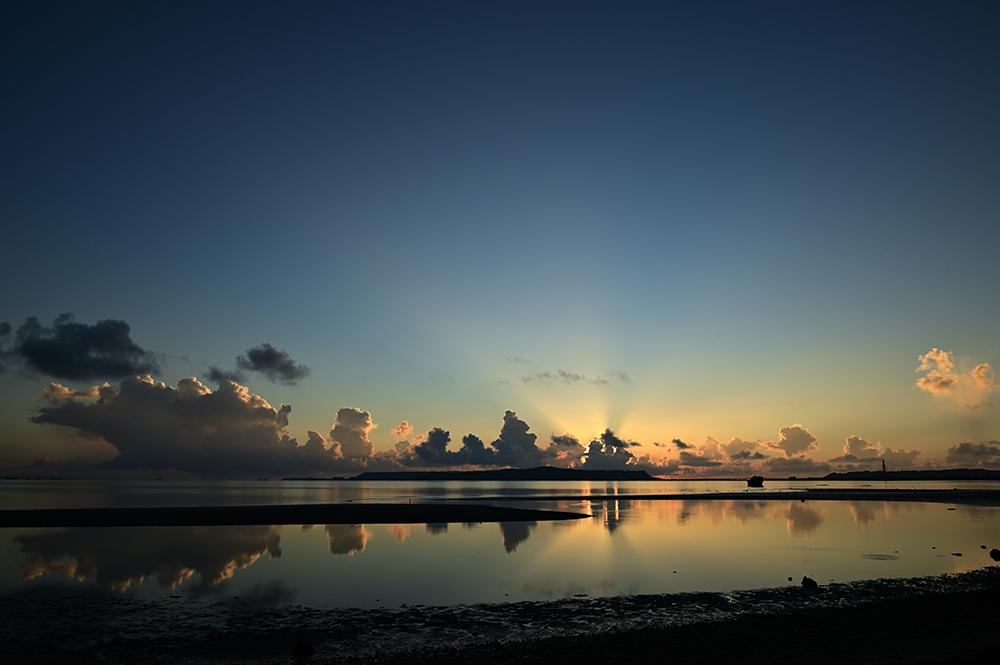 【画像】2021年9月2日の沖縄の朝焼け