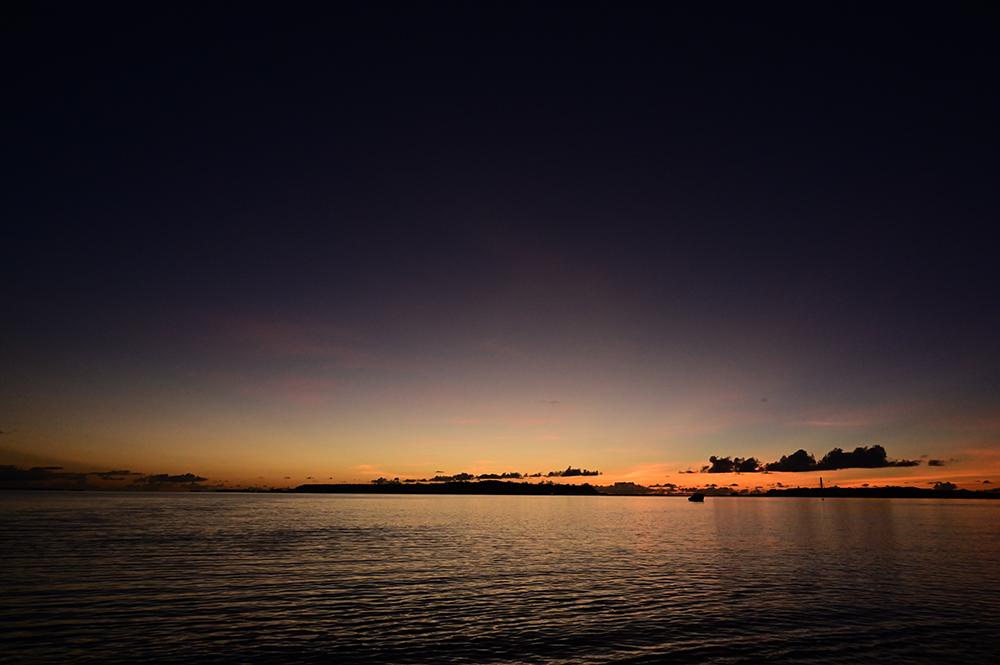 【画像】2021年9月8日の沖縄の朝焼け