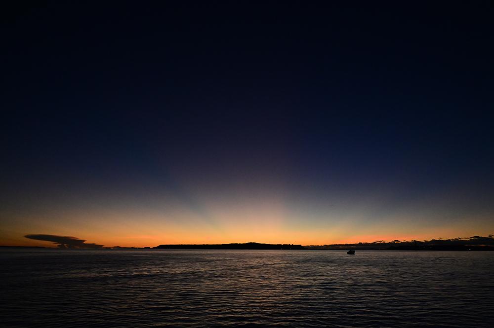 【画像】2021年9月9日の沖縄の朝焼け