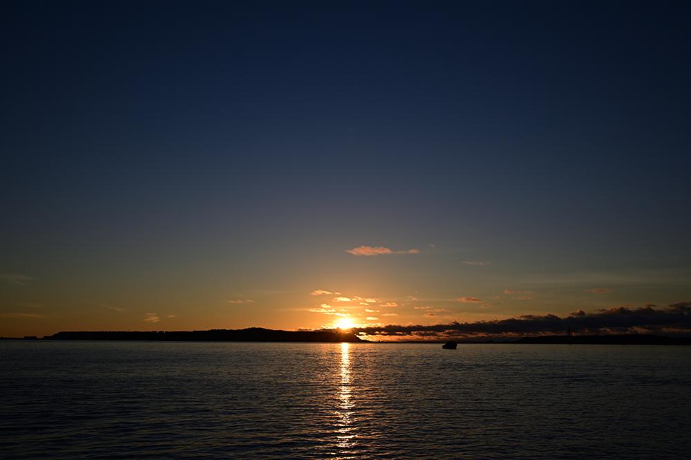 【画像】2021年9月9日の沖縄の日の出