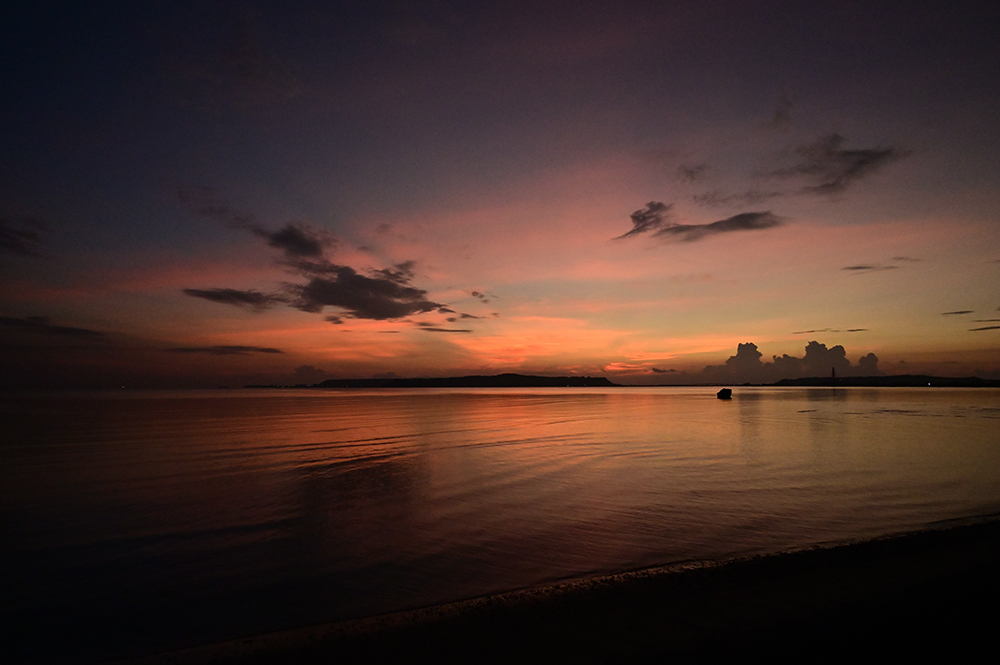 【画像】2021年9月17日の沖縄の朝焼け