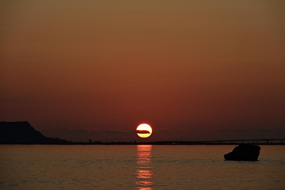 【画像】2021年9月21日の沖縄の日の出