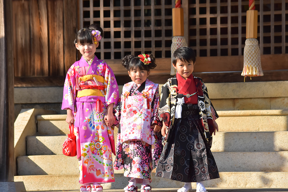 【画像】七五三の着物を着た子どもたち