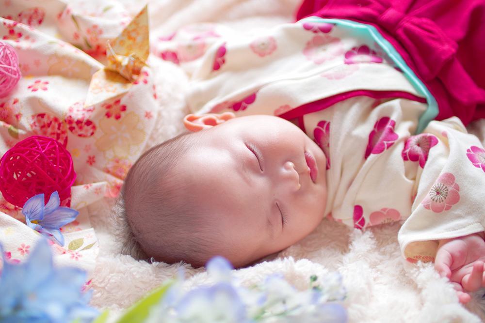【画像】着物姿で眠る赤ちゃん