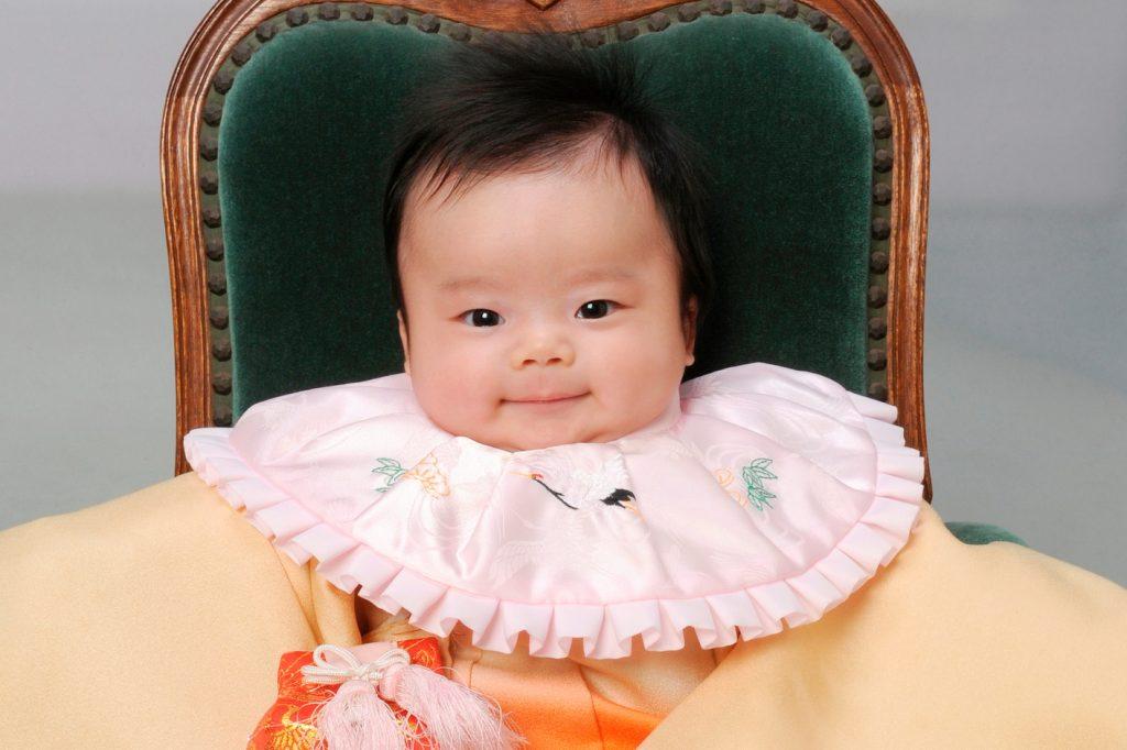 【画像】晴れ着姿の赤ちゃん