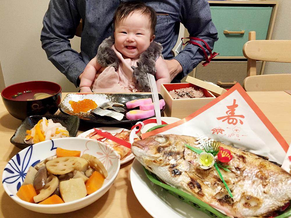 【画像】お食い初めの赤ちゃん