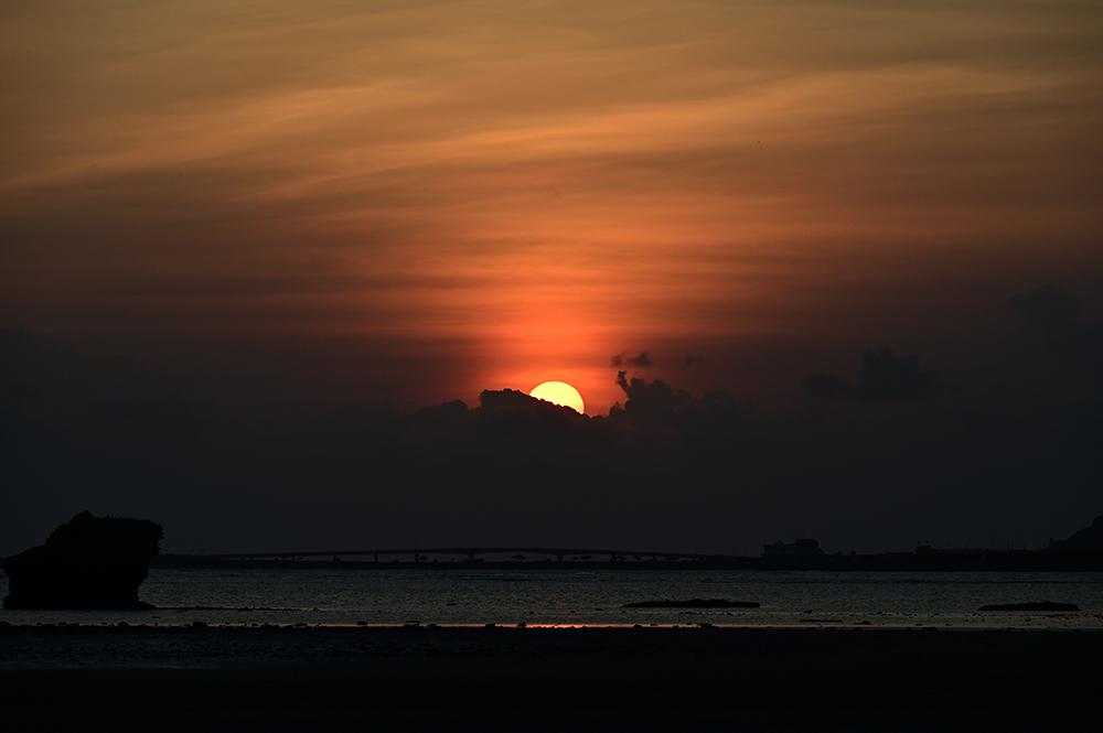 【画像】2021年10月1日の沖縄の朝焼け