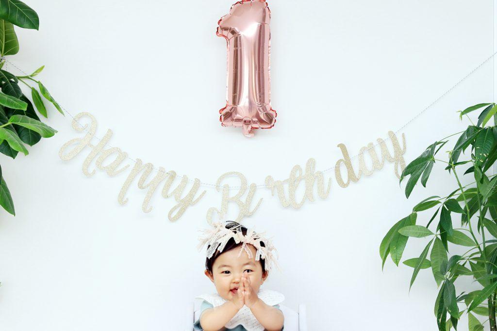 【画像】1歳の誕生日を迎えたお子さま